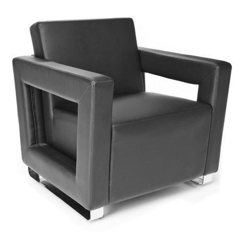 #126 - Distinct Series Soft Seating Black Lounge Chair
