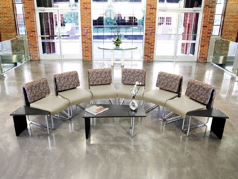 #55 - (9 PCS)UNO Series Lounge Package w/Nickel Black Chairs & Windswept Bronze Tables