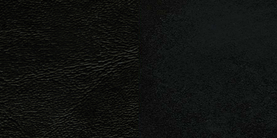 #40 - BLACK WINDOW BACK METAL RESTAURANT CHAIR - BLACK VINYL SEAT