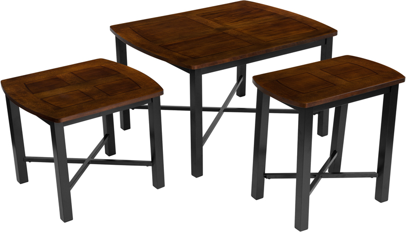 #10 - SIGNATURE DESIGN BY ASHLEY FLETCHER 3 PIECE OCCASIONAL TABLE SET