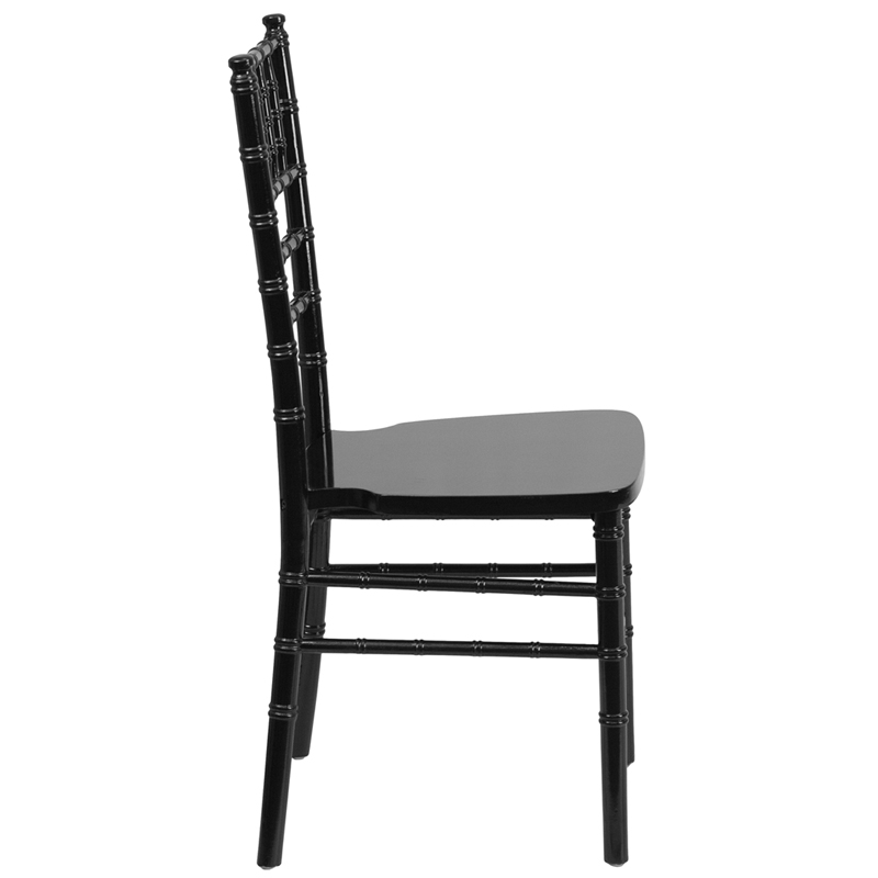 #1 - BLACK WOOD CHIAVARI CHAIRS - FREE SEAT CUSHIONS