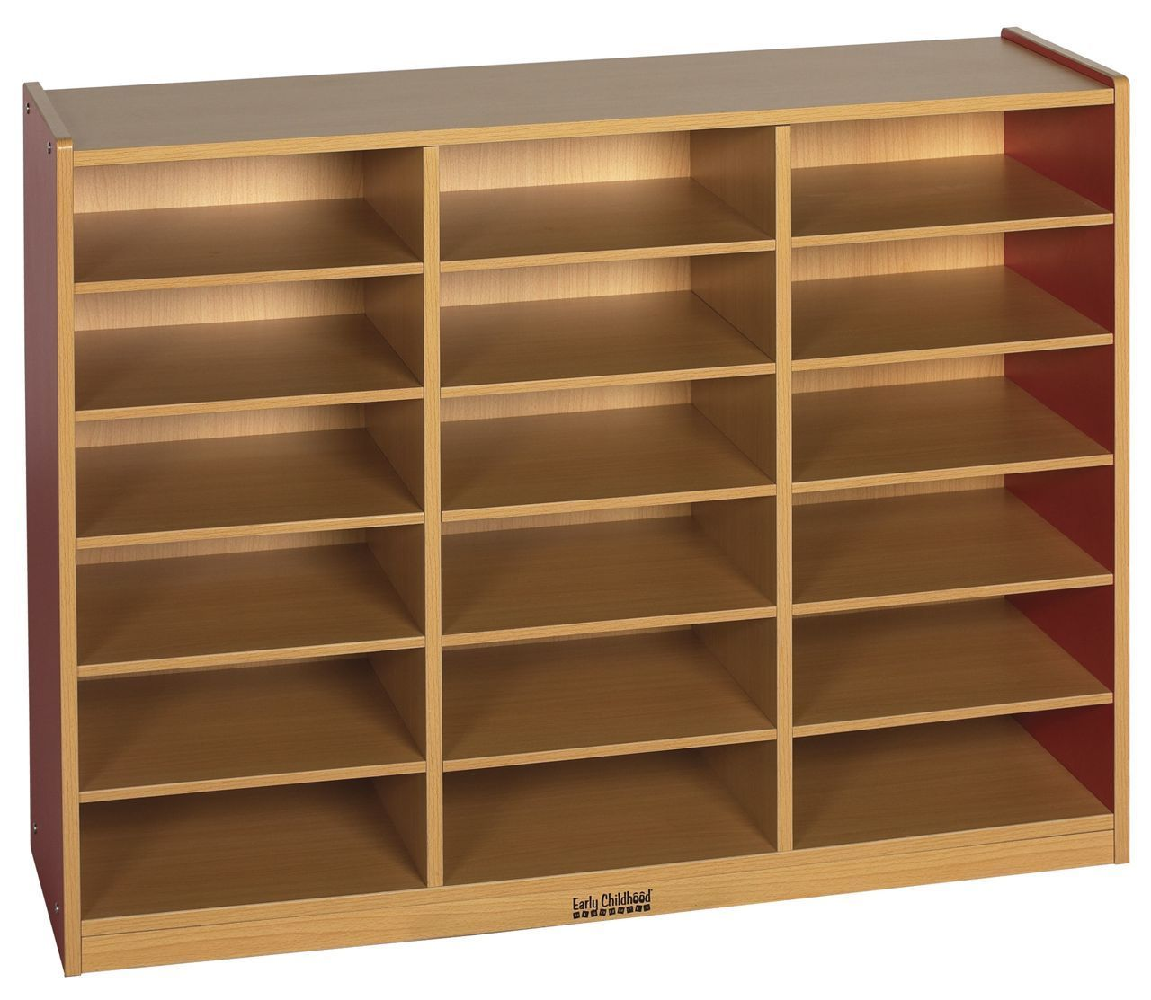 #38 - 18 Compartment Multi-Purpose Cabinet in Red