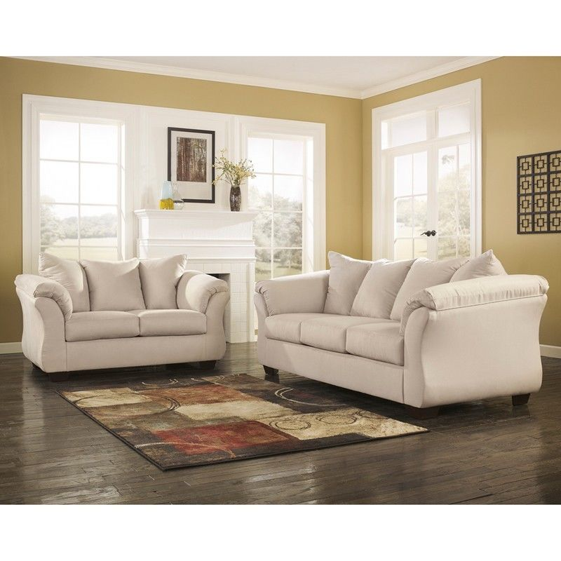 #41 - Signature Design by Ashley Darcy Living Room Set in Stone Fabric