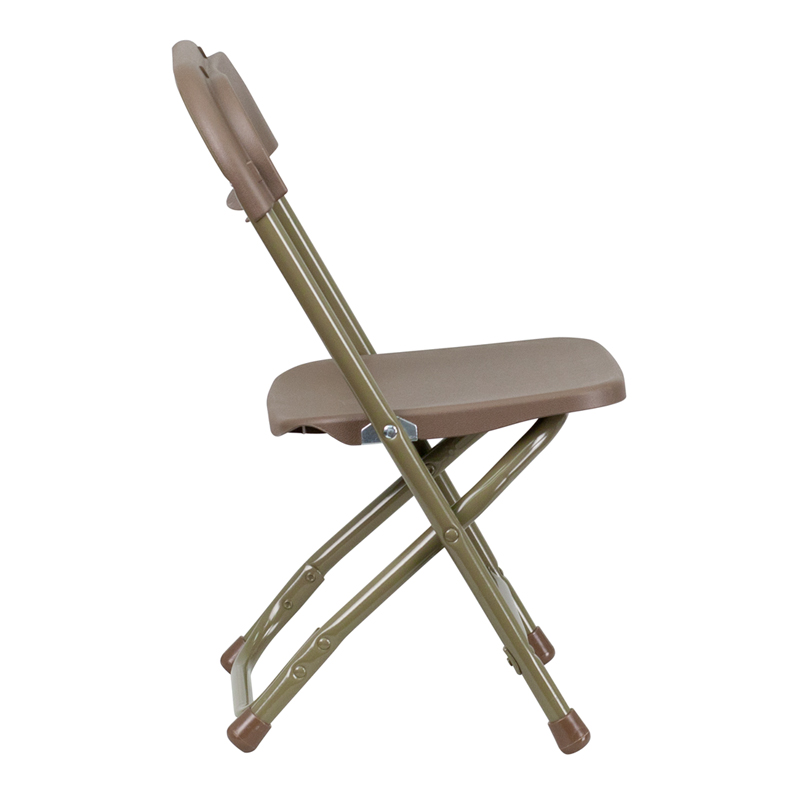 #29 - KIDS BROWN PLASTIC FOLDING CHAIR