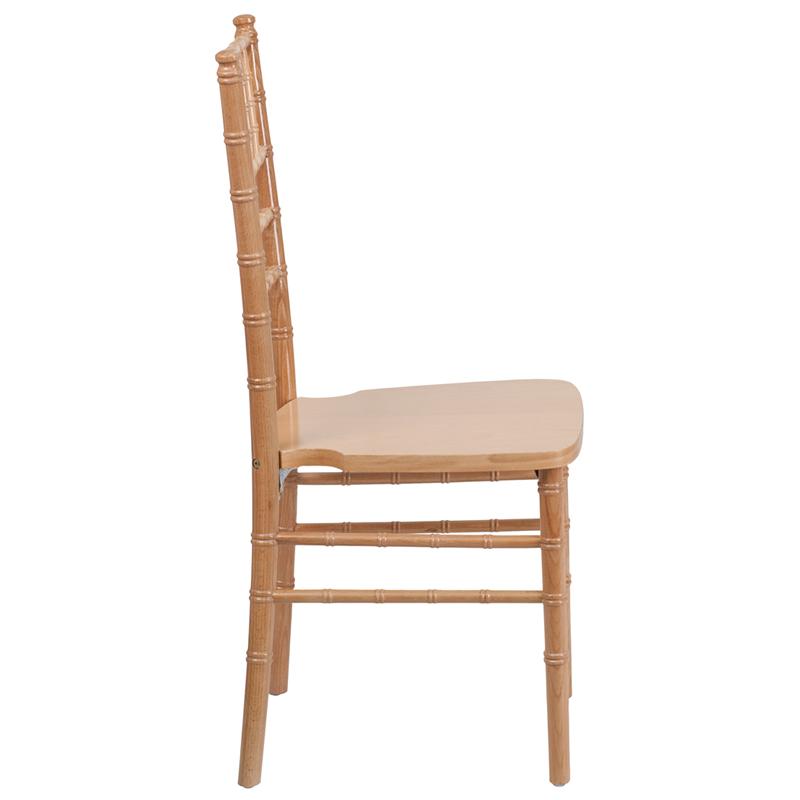 #7 - NATURAL WOOD CHIAVARI CHAIRS - FREE SEAT CUSHIONS