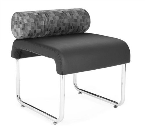 #139 - Uno Series Black Nickel Pillow Back Reception Lounge Seat