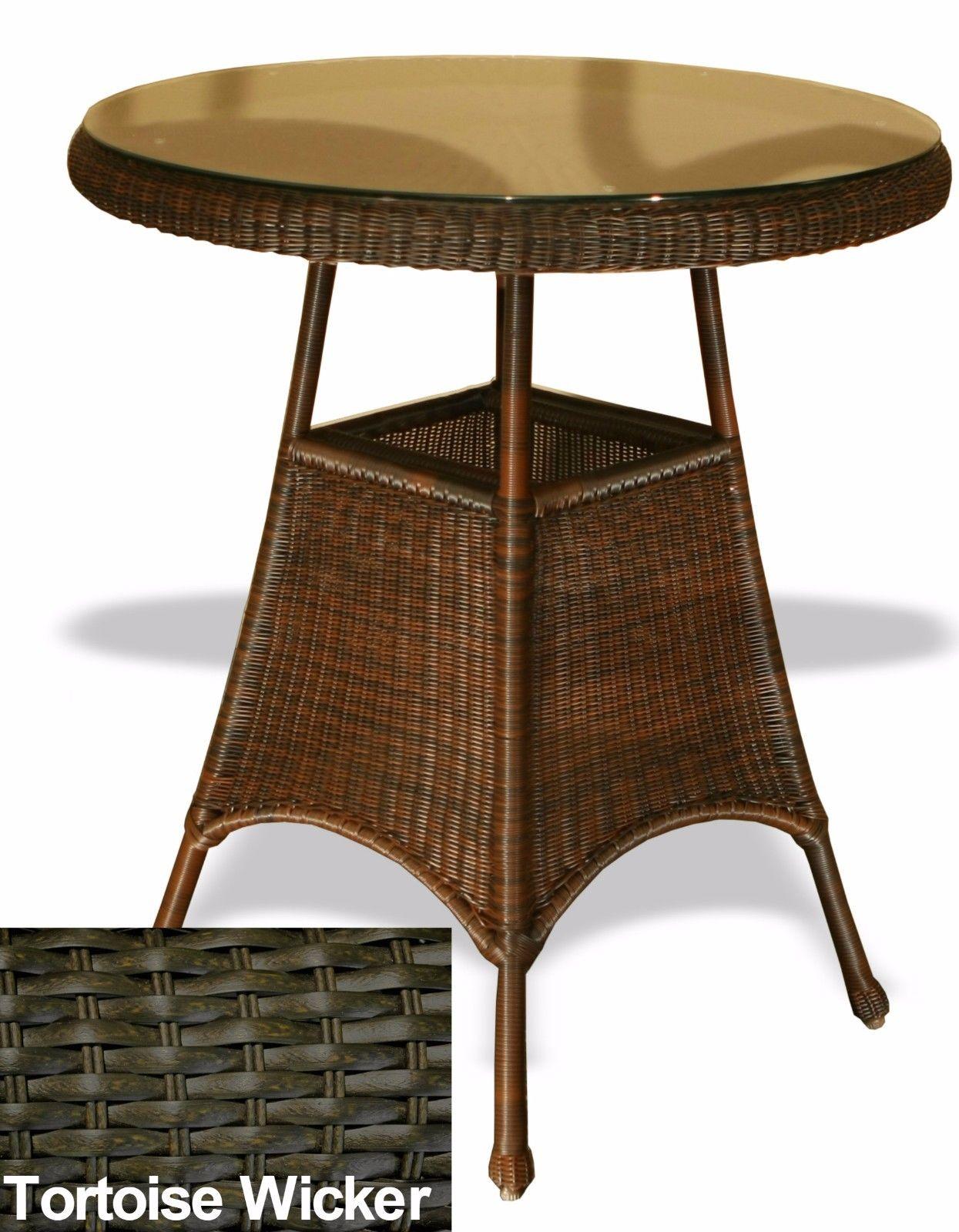 #191 - Stylish Modern Outdoor Patio Garden Bar Table in Tortoise All Weather Wicker