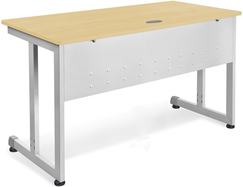 #44 - 24'' D x 72'' W Contemporary Modular Desk and Worktable in Maple Finish