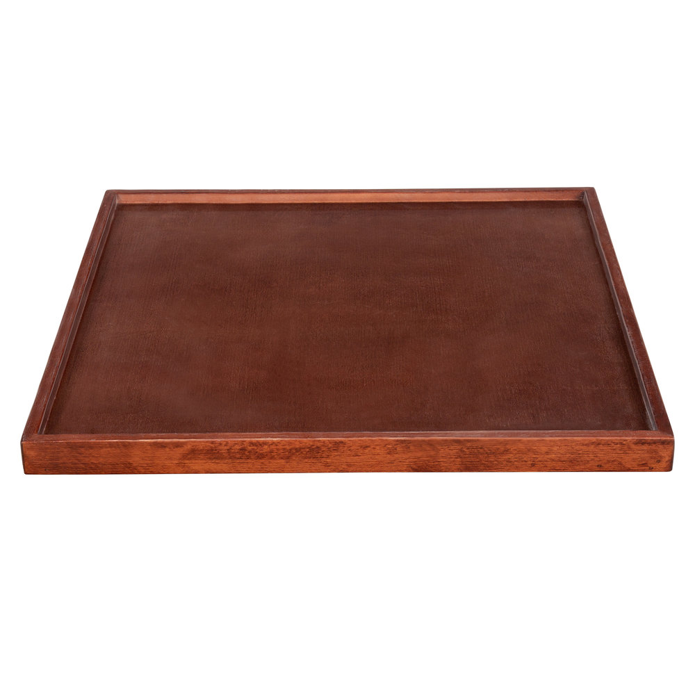 """#16 - 30"""" x 30"""" Square Recycled Wood Mahogany Finish Wood Table Top"""