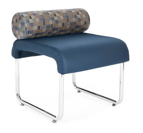 #140 - Uno Series Navy Bluejay Pillow Back Reception Lounge Seat