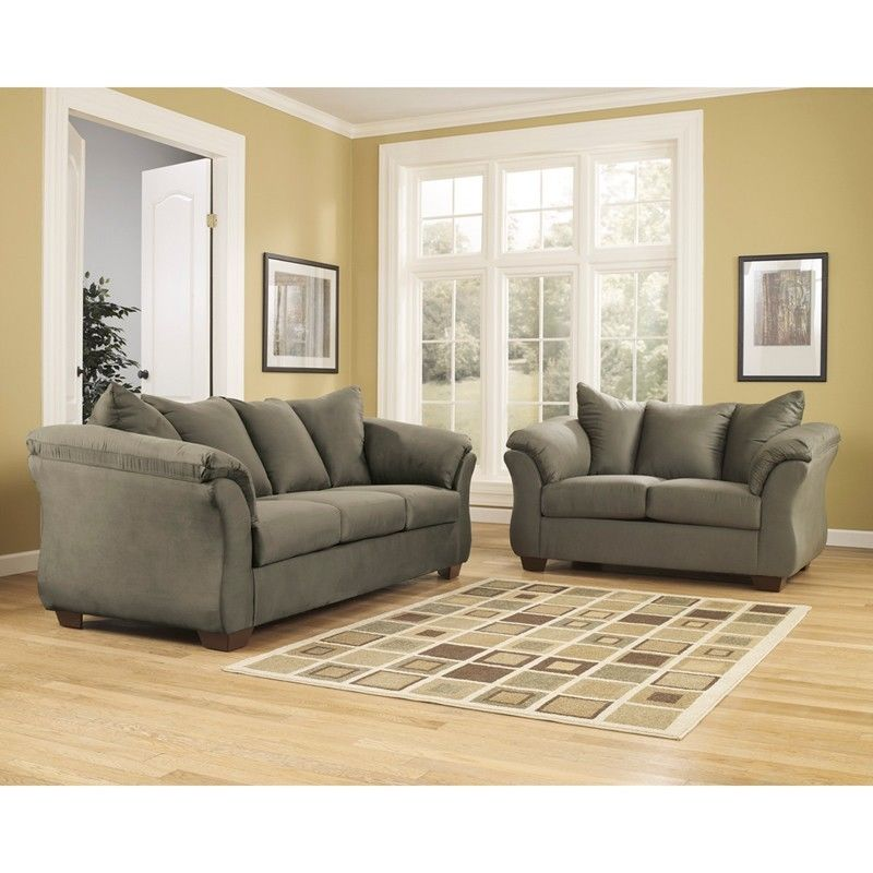#42 - Signature Design by Ashley Darcy Living Room Set in Sage Fabric