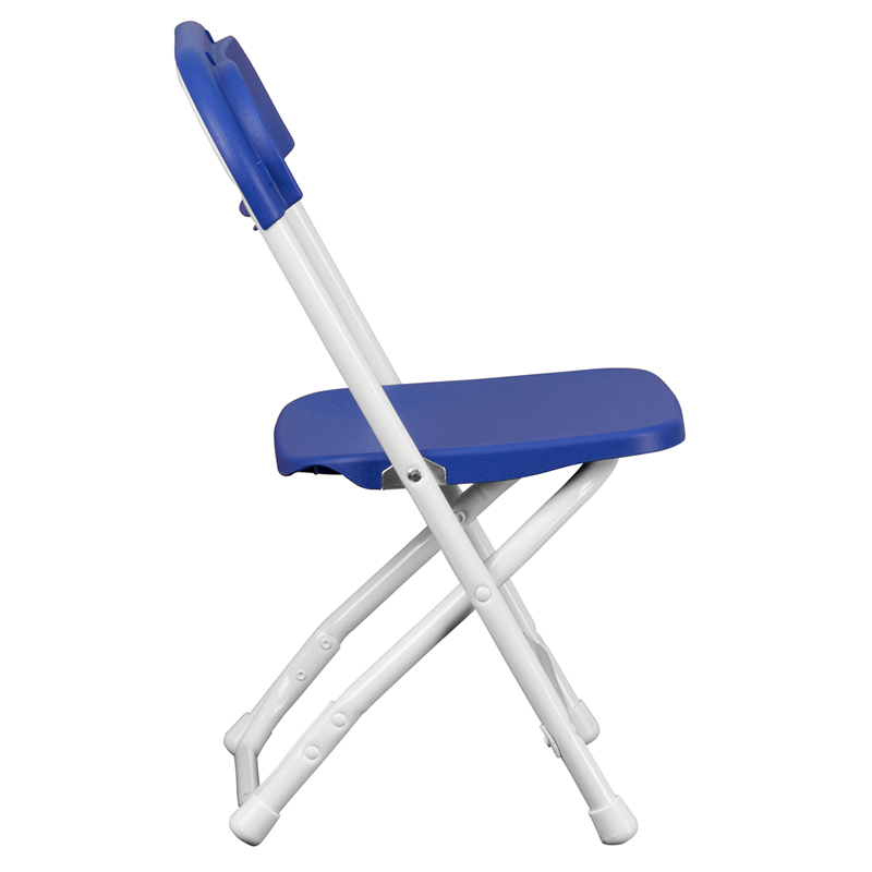 #28 - KIDS BLUE PLASTIC FOLDING CHAIR