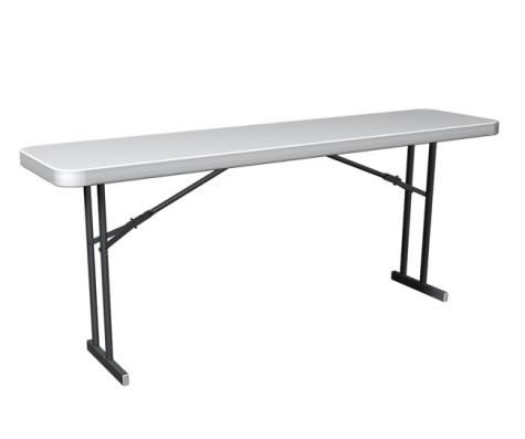 #6 - Commercial Folding 6 FT. Seminar Table in White Granite