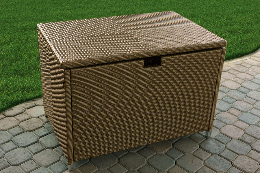 #201 - Medium Size Tree Bark Resin Wicker Storage Box - For Indoor or Outdoor Use