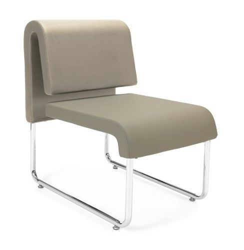 #146 - Uno Series Taupe Reception Lounge Chair
