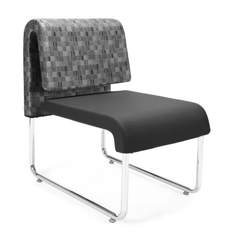 #147 - Uno Series Black Nickel Reception Lounge Chair