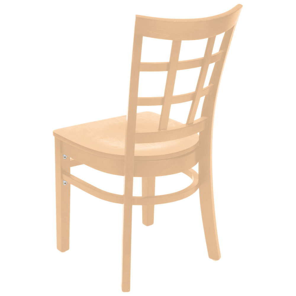 #71 - Natural Wood Finished Window Back  Restaurant Chair