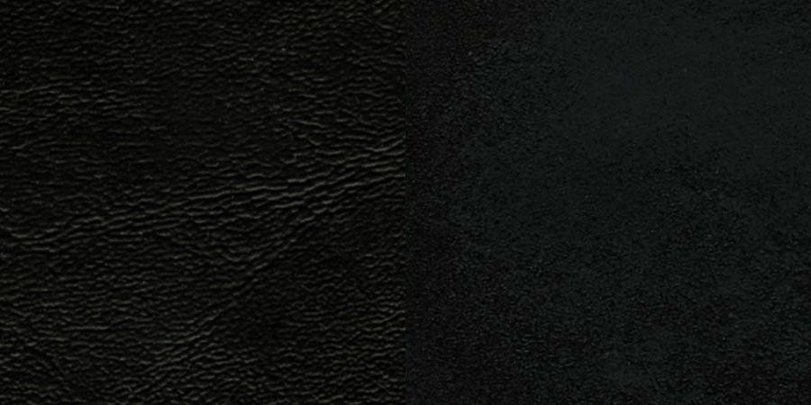 #52 - BLACK SCHOOL HOUSE BACK METAL RESTAURANT CHAIR - BLACK VINYL SEAT