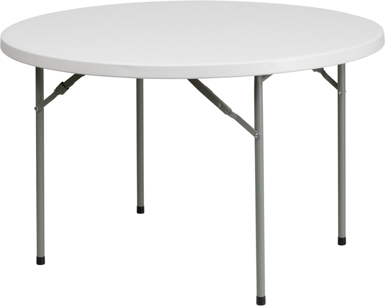 "#18 - 48"" ROUND PLASTIC FOLDING TABLE"