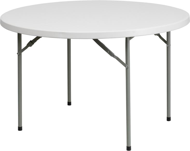 "#18 - 48"" ROUND PLASTIC FOLDING TABLE"