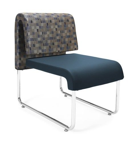 #149- Uno Series Navy Bluejay Reception Lounge Chair