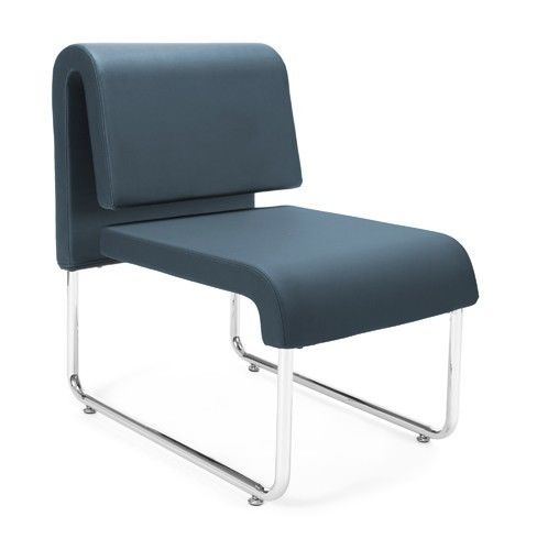 #150 - Uno Series Navy Reception Lounge Chair