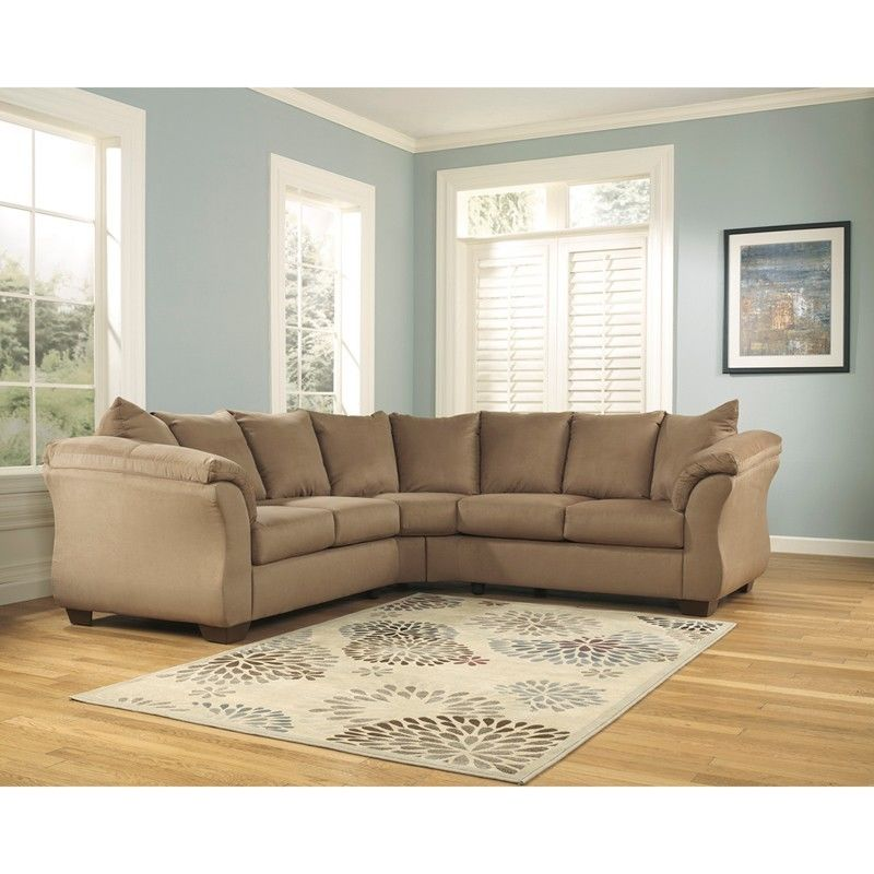 #43 - Signature Design by Ashley Darcy Sectional in Mocha Fabric
