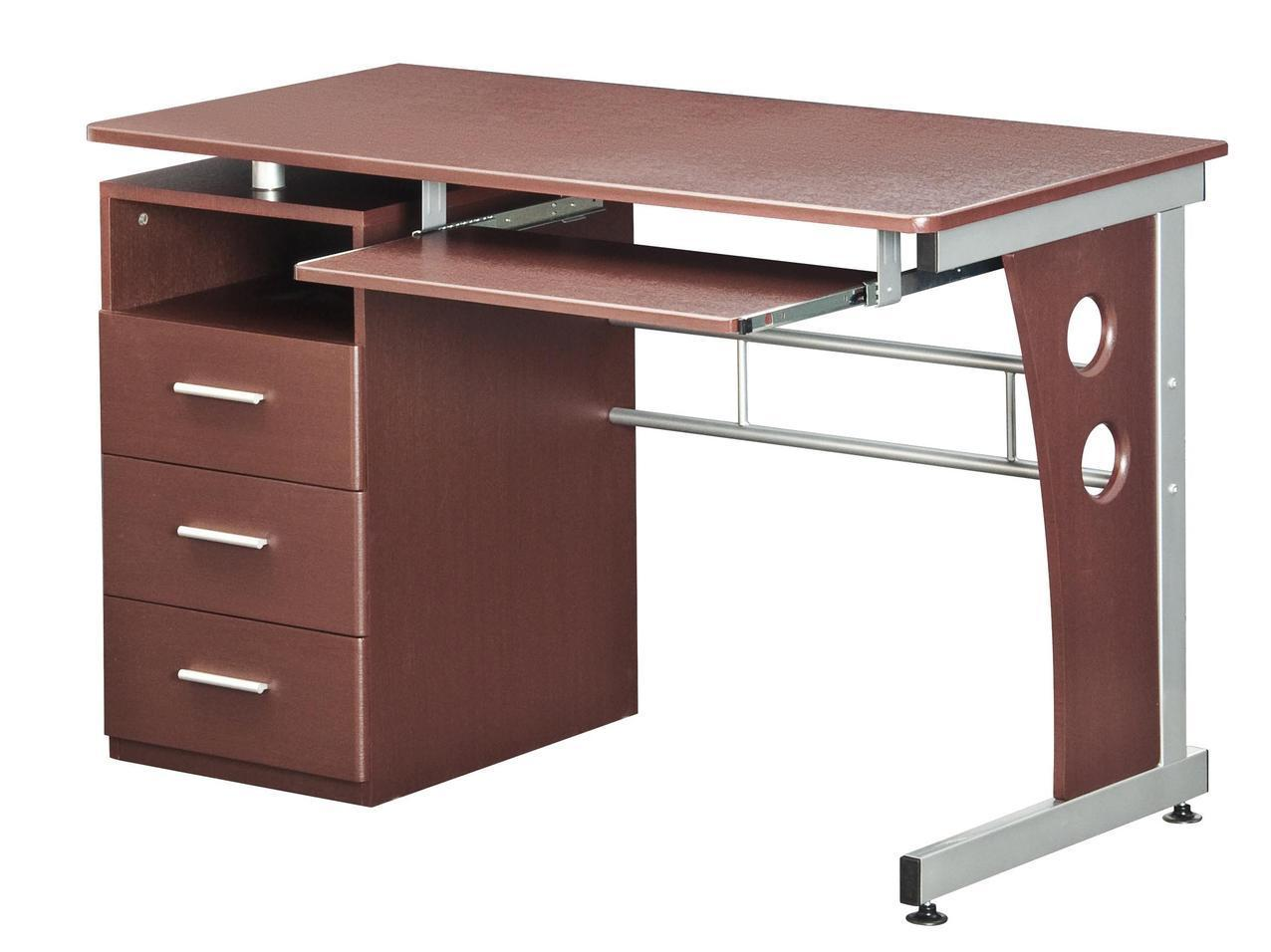 #87 - Modern Computer Desk with 3 Storage Drawers and Pullout Keyboard Tray