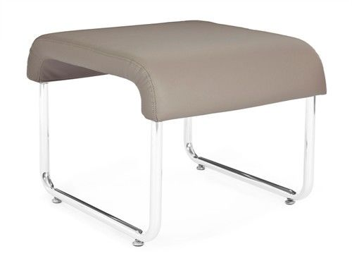 #152 - Uno Series Backless Taupe Reception Lounge Seat