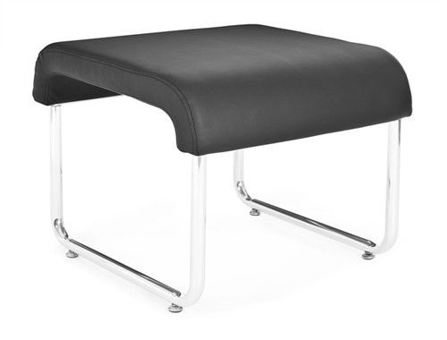 #153 - Uno Series Backless Black Reception Lounge Seat