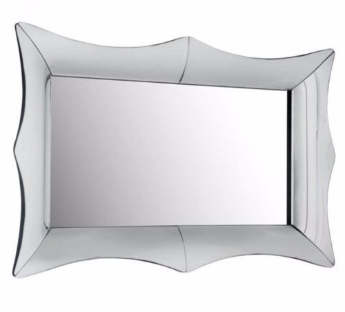 #4 - Traditional Stylish Rectangular Mirror w/Mirror Pieces Cut in Unique Style