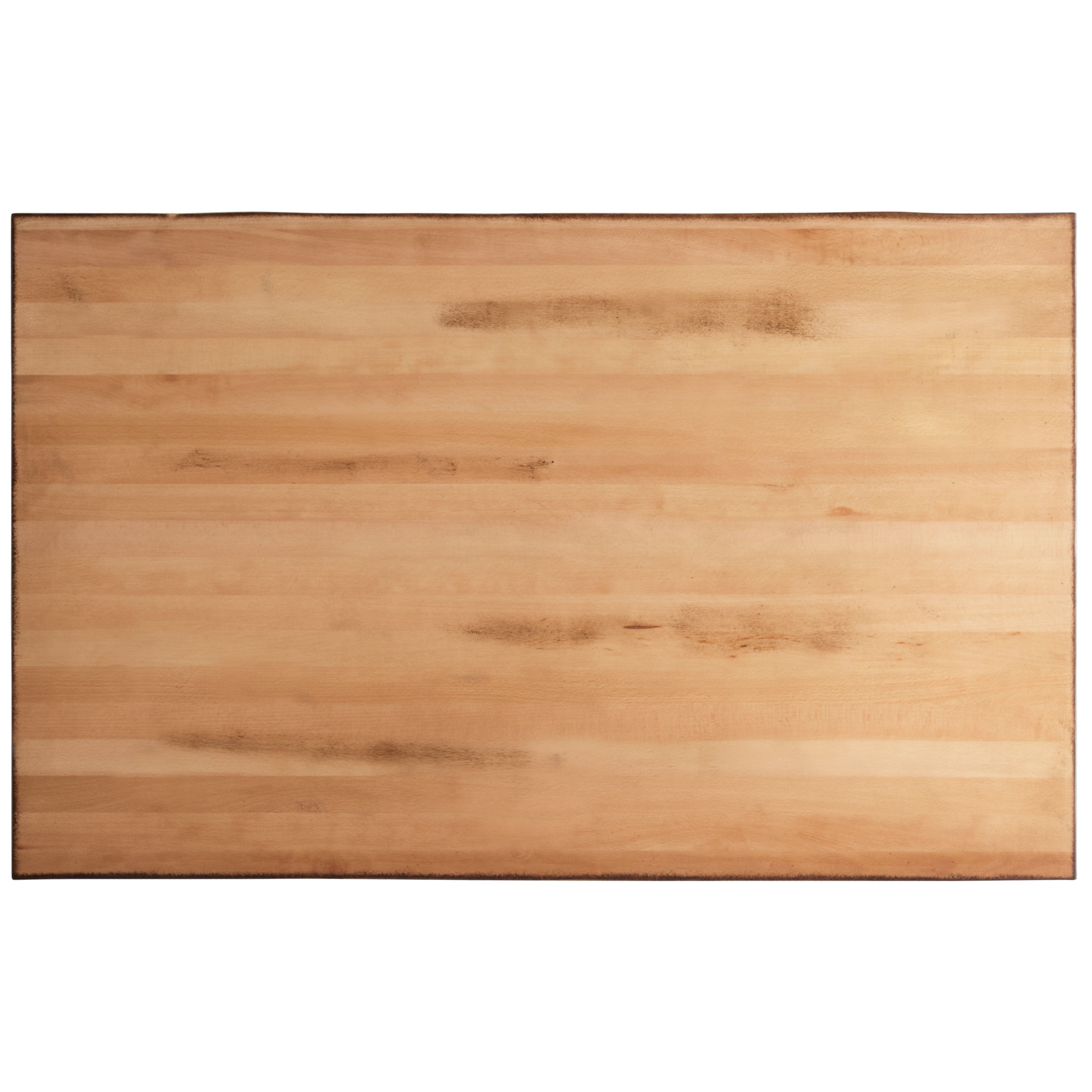 """#35 - 30"""" x 48"""" Solid Wood Live Edge Table Top with Antique Natural Finish"""