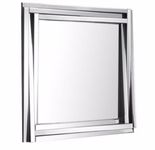#6 - Modern Stylish Square Mirror w/Long Slim Pieces Cut & Arranged