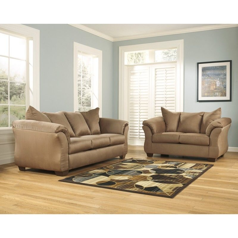 #44 - Signature Design by Ashley Darcy Living Room Set in Mocha Fabric