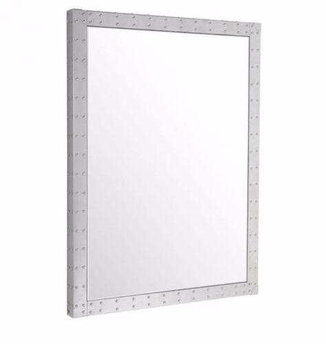 #7 - Simple Modern Slim Elegant Rectangular Mirror w/Studded Reflective Frame