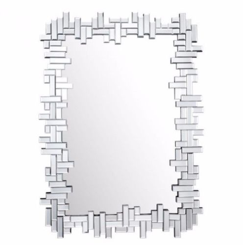 #8 - Modern Style Choppy Design w/Small Slim Rectangular Cut Mirror Pieces