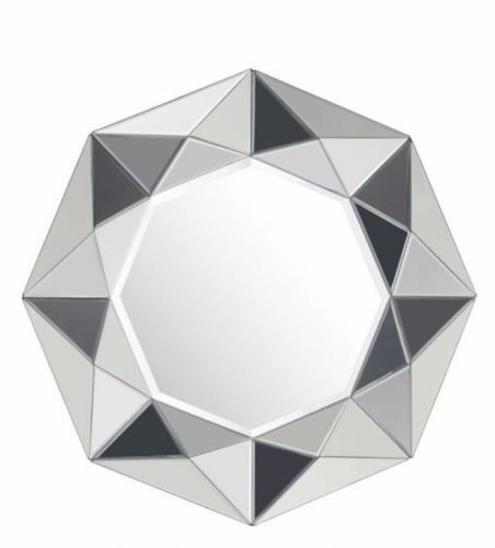 #9 - Petite Stylish Design Diamond Shaped Facet Mirror w/Small Cut Mirror Pieces