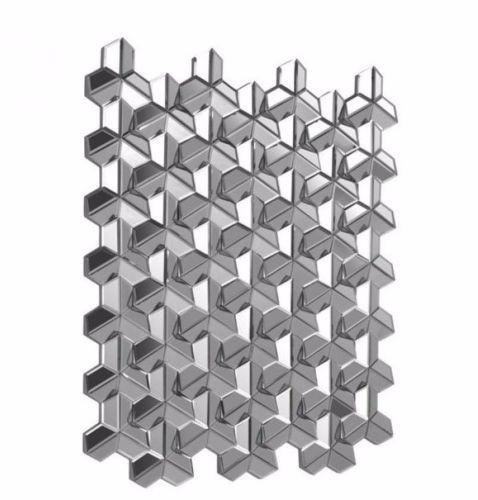 #12 -  Stylish Modern Square Design Mirror w/Small Angled Mirror Pieces