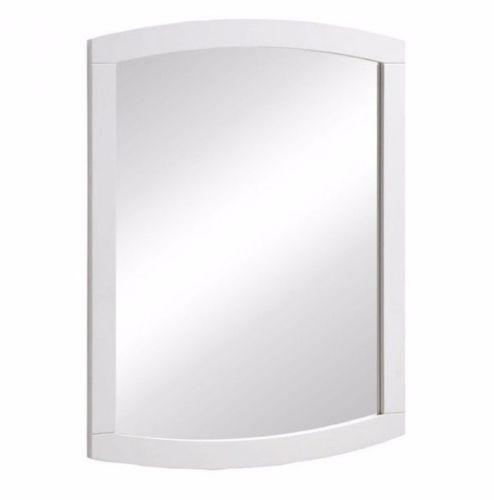 #13 -  Modern Stylish Design Wall Mirror in White Veneer Rubber Wood