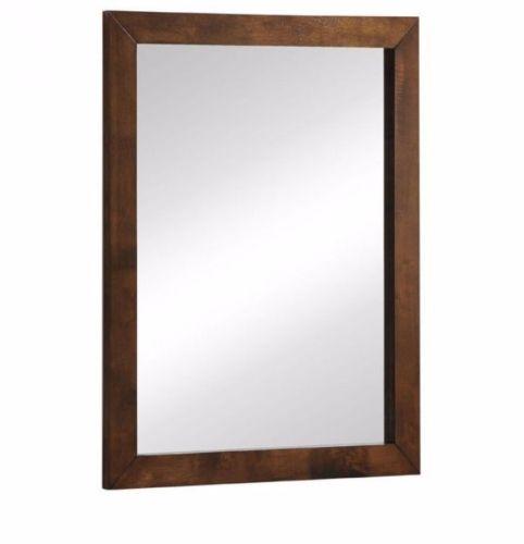 #16 -Mid-Century Modern Wall Mirror in Walnut Veneer Rubberwood