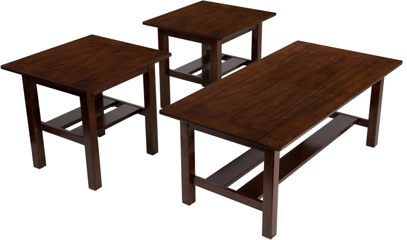 #13 - SIGNATURE DESIGN BY ASHLEY LEWIS 3 PIECE OCCASIONAL TABLE SET