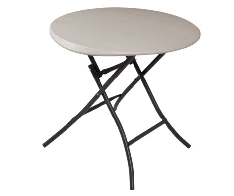 #25 - 33 IN. Round Folding Table in Putty