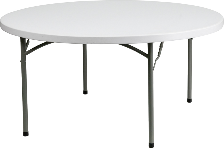 "#20 -  60"" ROUND PLASTIC FOLDING TABLES"