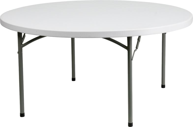 "#20 -  60"" ROUND PLASTIC FOLDING TABLES"