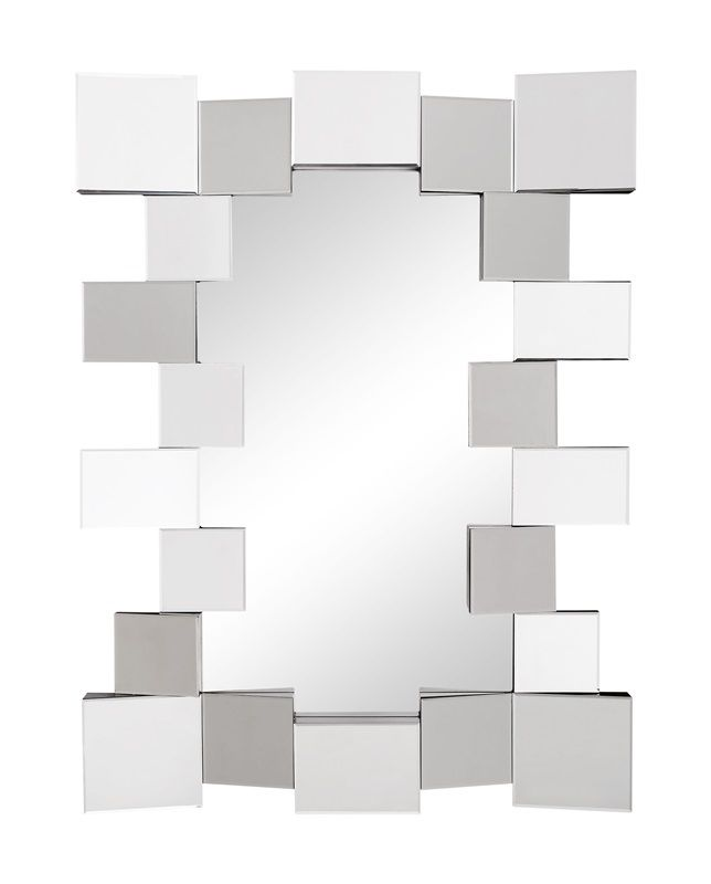 #22 - Stylish Mirror with Mirrored Blocks Clustering Around the Mirror