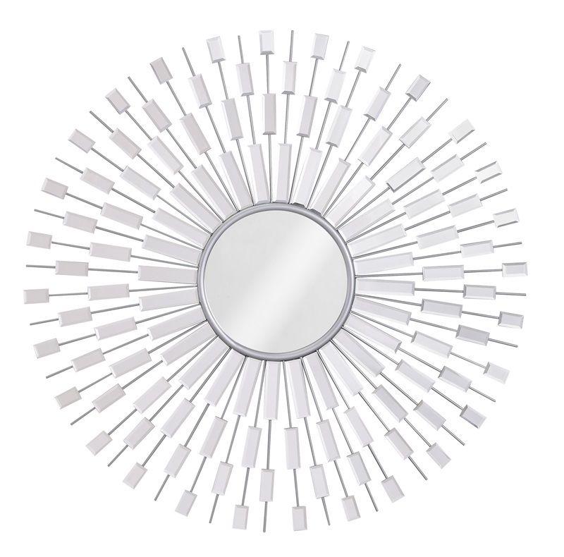 #20 - Stylish Modern Mirror with Radiating Light Catching Rays
