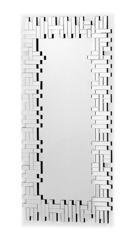 #28 -  Mirror Made of Oblongs in a Jenga Configuration