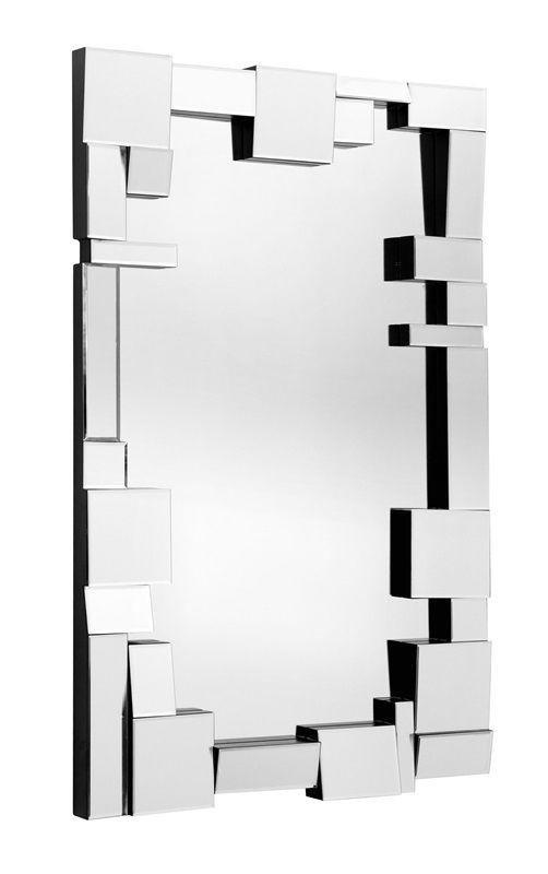 #29 -  Retro Geometrical Mirror with Elements of Art Decor