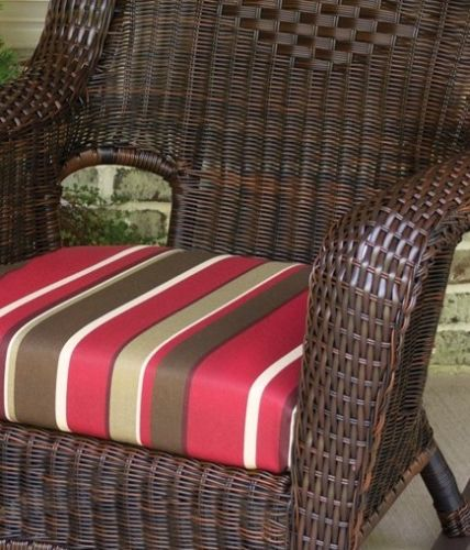 #85 - Outdoor Patio Garden Furniture Java Resin Wicker Rocking Chair in Monserrat