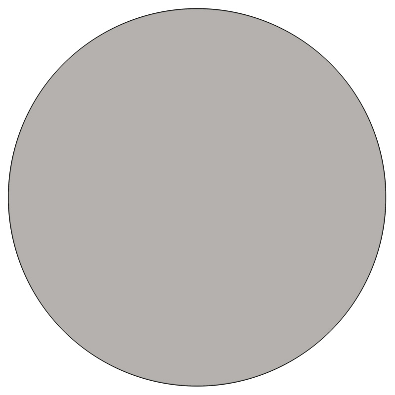 #78 - Mobile 42'' Round Activity Table with 1.25'' Thick High Pressure Grey Laminate Top and Standard Height Adjustable Legs